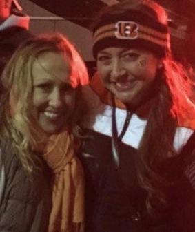 Shawna and Amanda at a football game