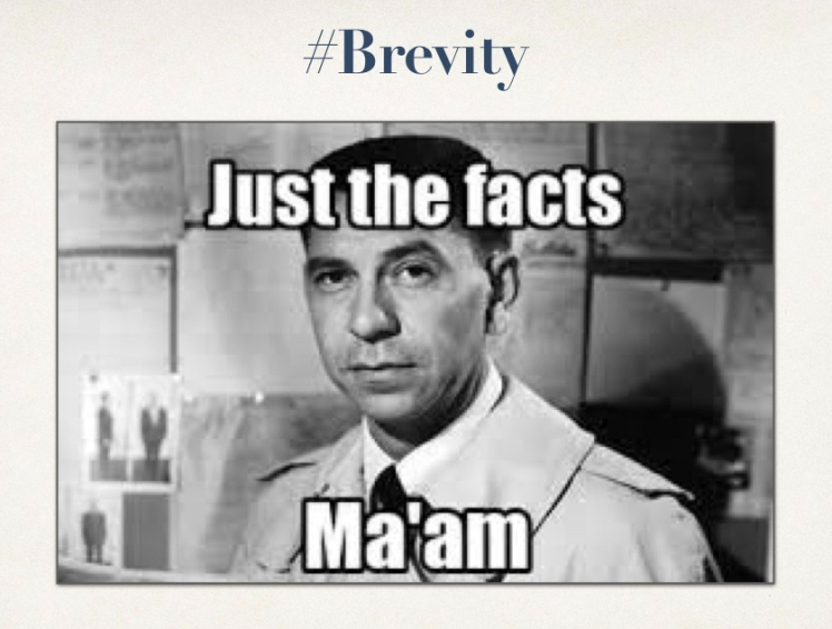"Image of Joe Friday with ""Just the facts, Ma'am""."