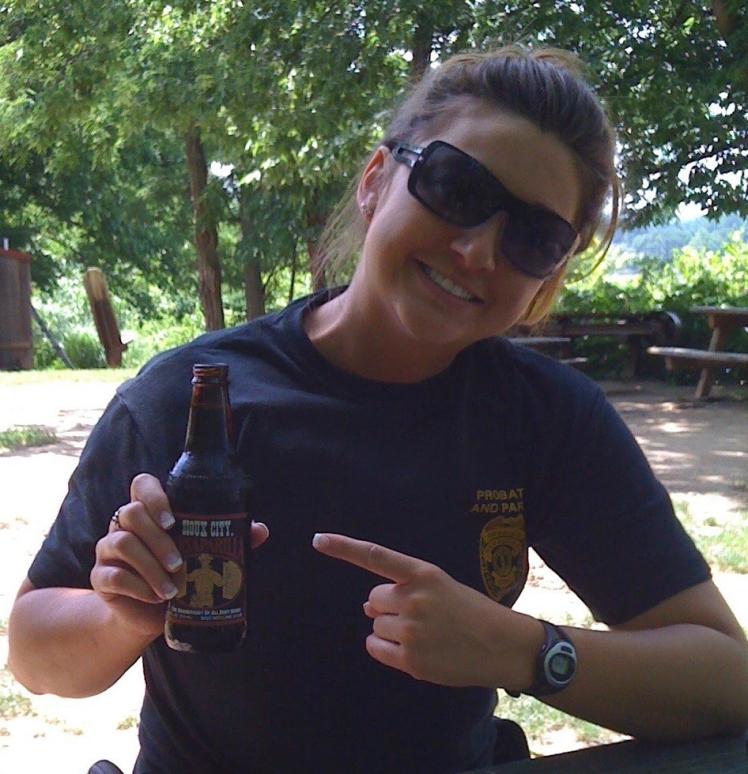 Shawna in uniform