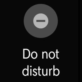 "Gaithri's ""Do not disturb"" phone setting"