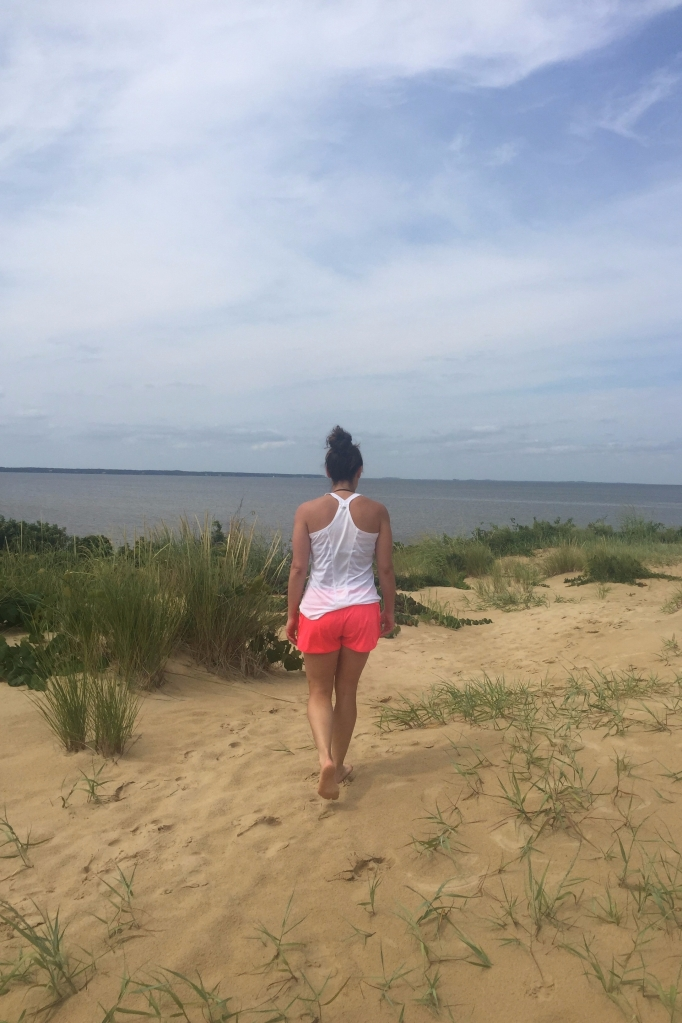 Kait on a beach walk